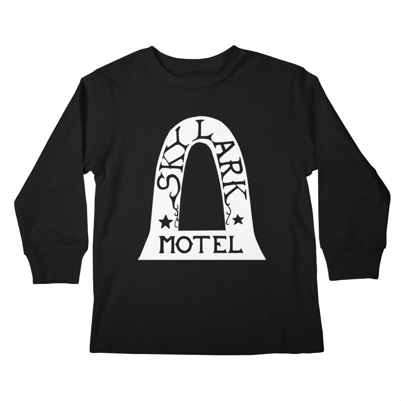 Skylark Motel - White Logo Version Kids Longsleeve T-Shirt by Slow Low Crow Merch Shop