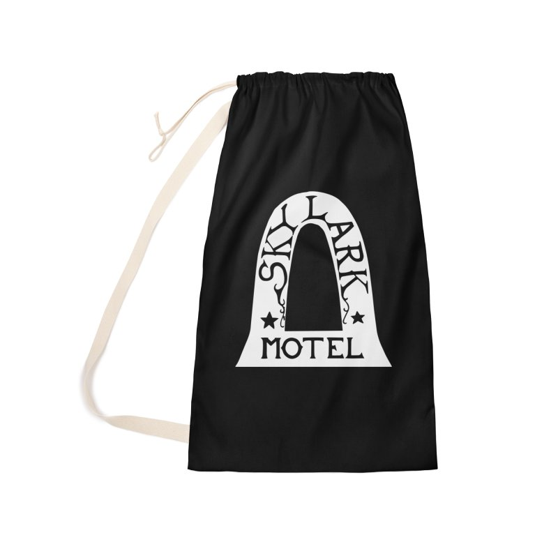 Skylark Motel - White Logo Version Accessories Laundry Bag Bag by Slow Low Crow Merch Shop