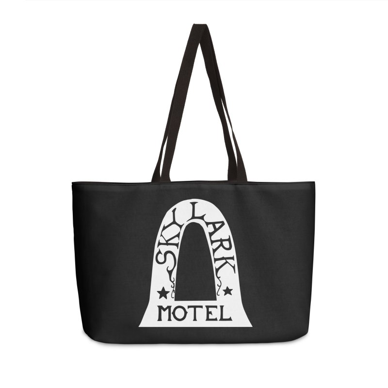 Skylark Motel - White Logo Version Accessories Weekender Bag Bag by Slow Low Crow Merch Shop