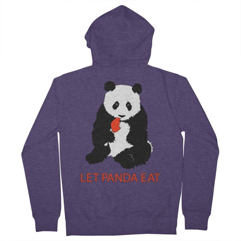 Let Panda Eat Men's Zip-Up Hoody by Slugamo's Threads