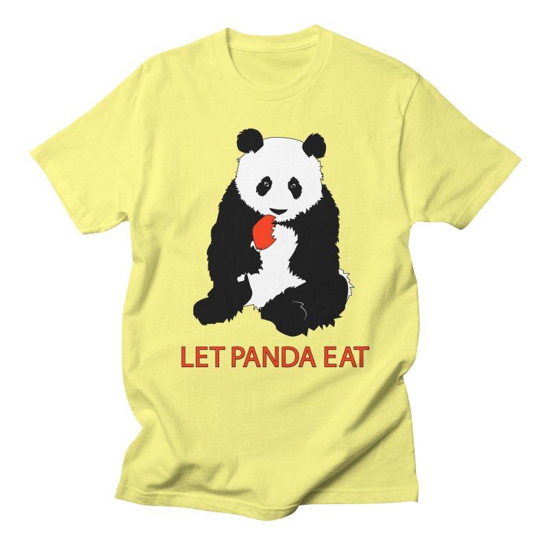 Let Panda Eat Men's T-Shirt by Slugamo's Threads
