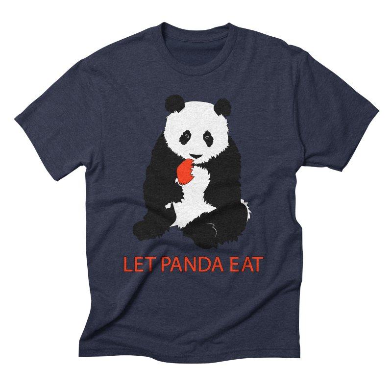 Let Panda Eat Men's Triblend T-Shirt by Slugamo's Threads