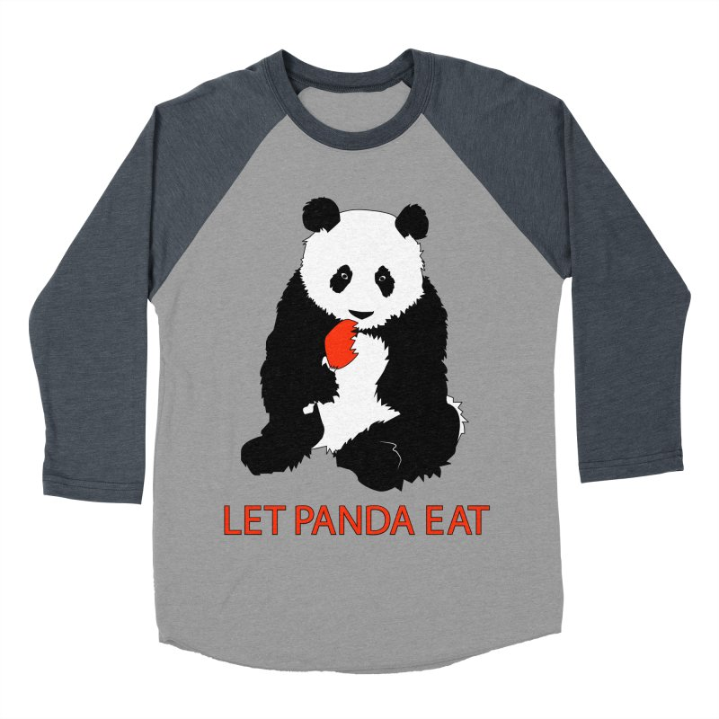 Let Panda Eat Women's Baseball Triblend T-Shirt by Slugamo's Threads