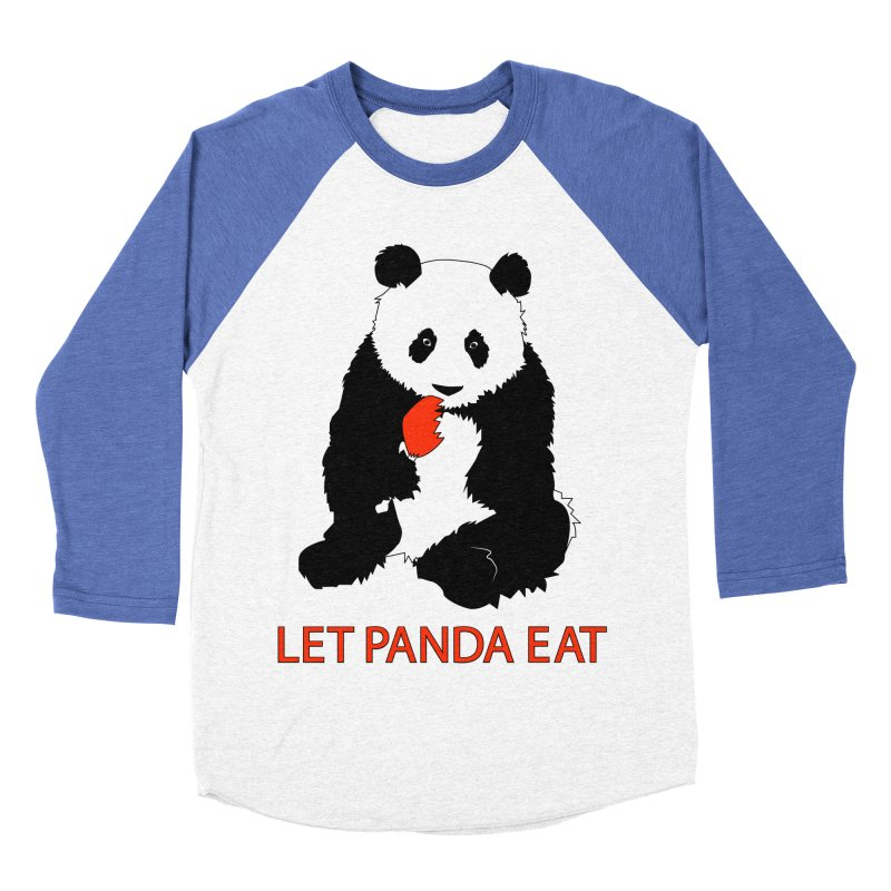 Let Panda Eat Men's Baseball Triblend T-Shirt by Slugamo's Threads