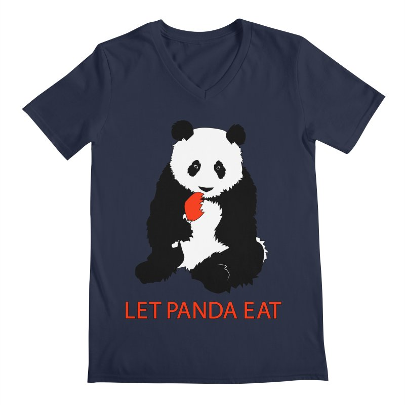 Let Panda Eat Men's V-Neck by Slugamo's Threads