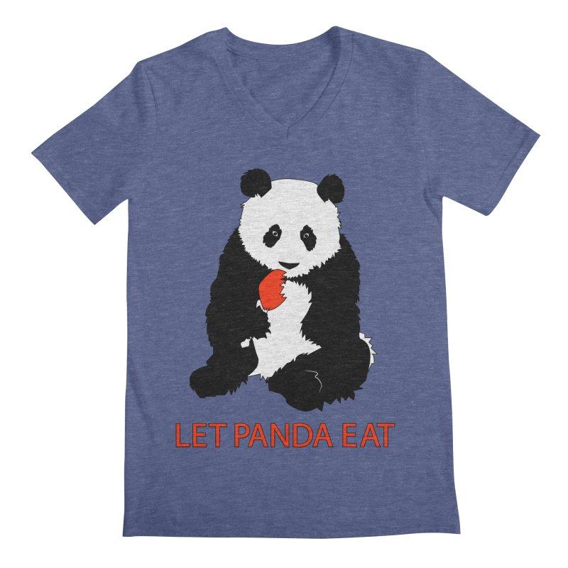 Let Panda Eat Men's V-Neck by Slugamo's Threads