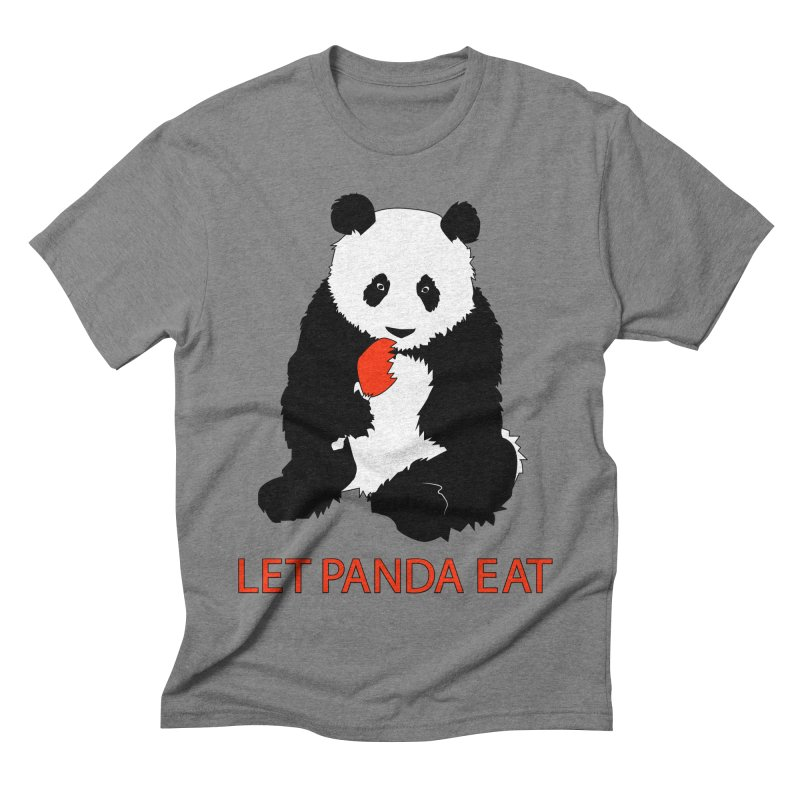 Let Panda Eat Men's Triblend T-shirt by Slugamo's Threads