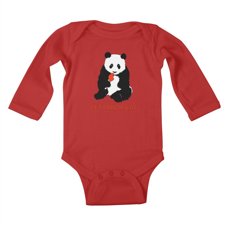 Let Panda Eat Kids Baby Longsleeve Bodysuit by Slugamo's Threads