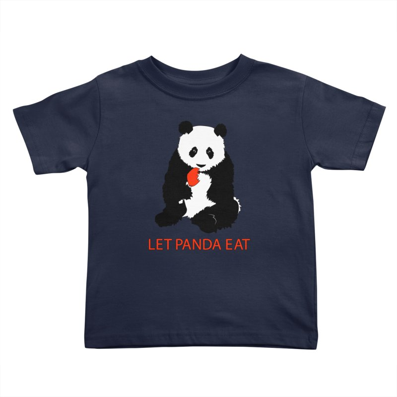 Let Panda Eat Kids Toddler T-Shirt by Slugamo's Threads