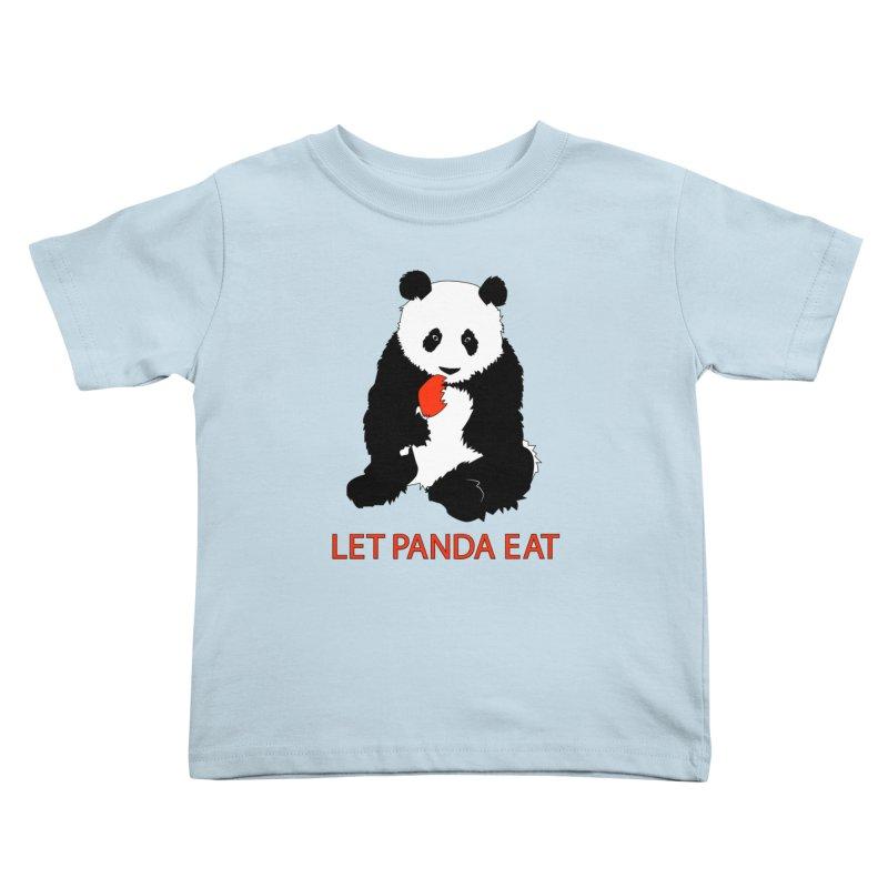 Let Panda Eat Kids Toddler T-Shirt by Slugamo's Threads