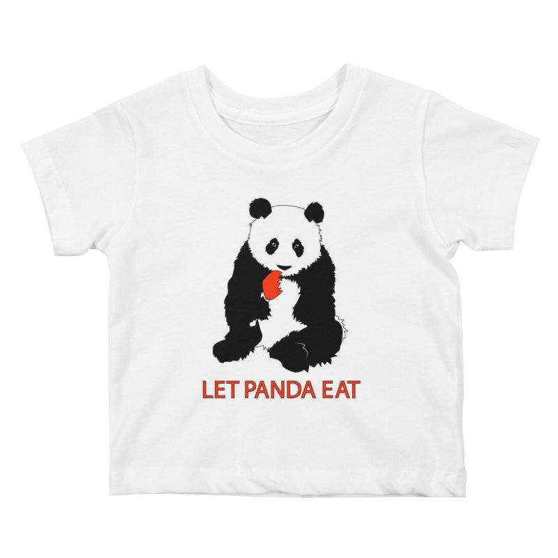 Let Panda Eat Kids Baby T-Shirt by Slugamo's Threads