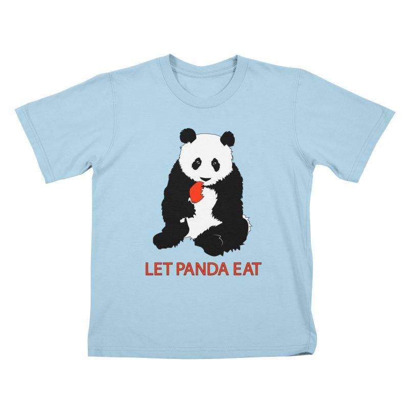 Let Panda Eat Kids T-shirt by Slugamo's Threads