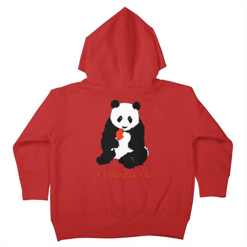 Let Panda Eat Kids Toddler Zip-Up Hoody by Slugamo's Threads