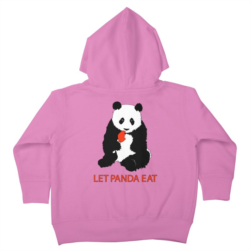 Let Panda Eat Kids Toddler Zip-Up Hoody by Slugamo's Threads