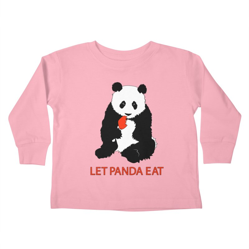 Let Panda Eat Kids Toddler Longsleeve T-Shirt by Slugamo's Threads