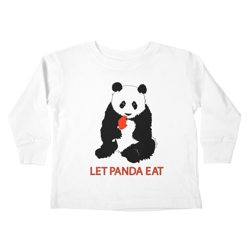 Let Panda Eat Kids Toddler Longsleeve T-Shirt by Slugamo's Threads