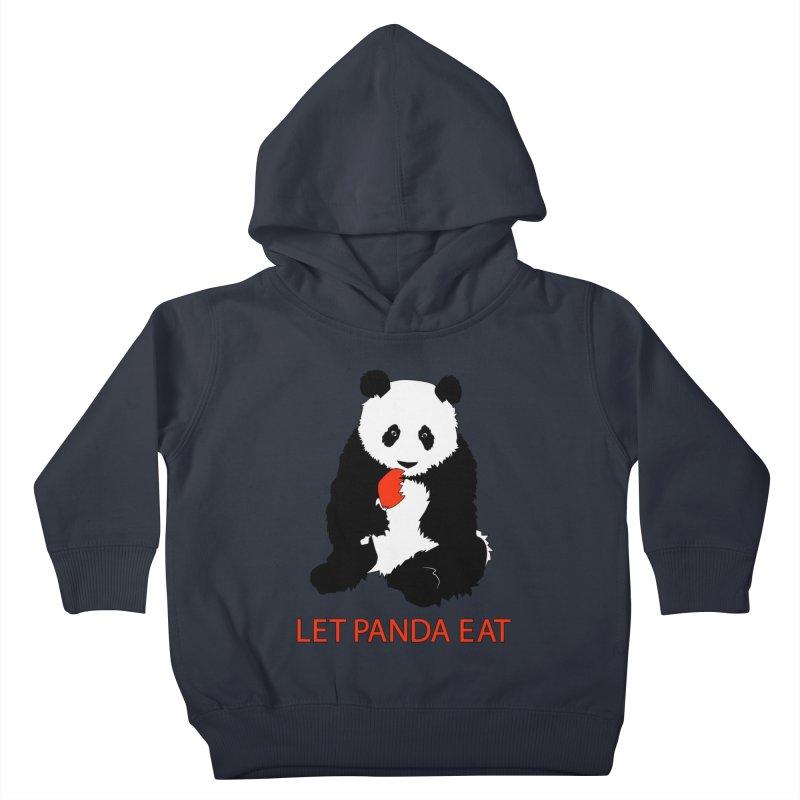 Let Panda Eat Kids Toddler Pullover Hoody by Slugamo's Threads