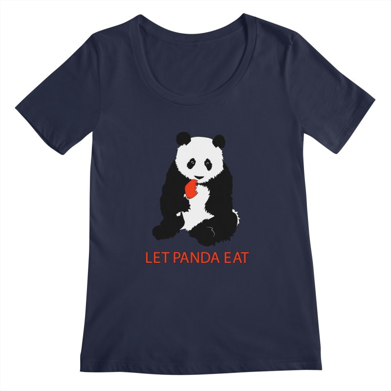 Let Panda Eat Women's Scoopneck by Slugamo's Threads