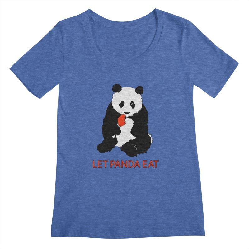 Let Panda Eat Women's Scoopneck by Slugamo's Threads