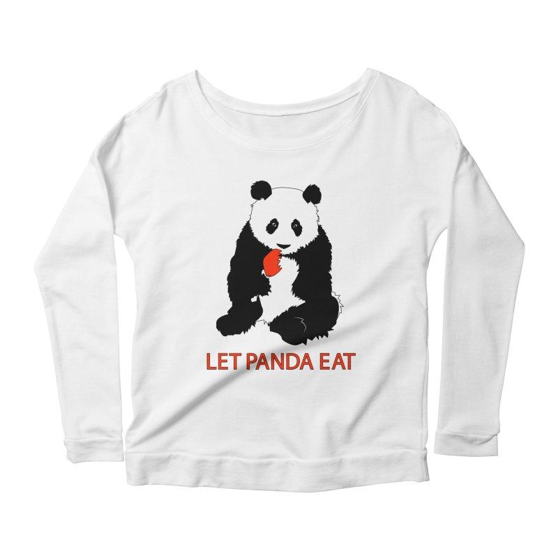 Let Panda Eat Women's Longsleeve Scoopneck  by Slugamo's Threads
