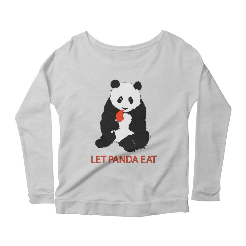 Let Panda Eat Women's Longsleeve Scoopneck  by Slugamo's Threads