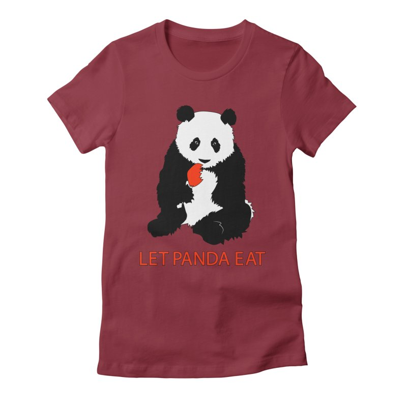 Let Panda Eat Women's Fitted T-Shirt by Slugamo's Threads