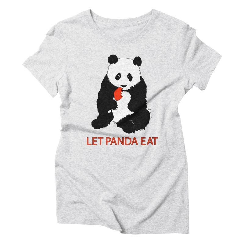 Let Panda Eat Women's Triblend T-shirt by Slugamo's Threads