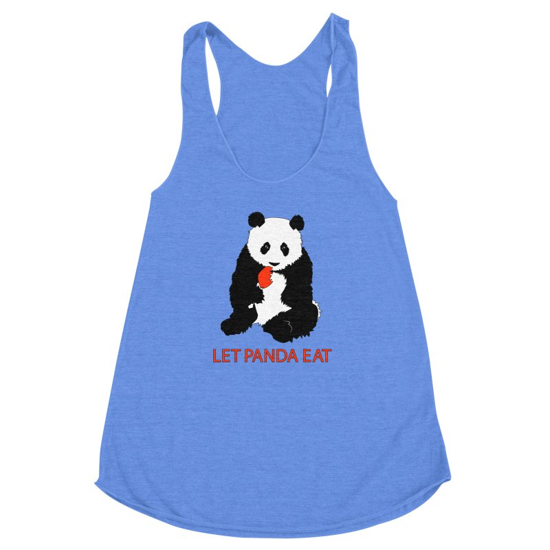 Let Panda Eat Women's Racerback Triblend Tank by Slugamo's Threads