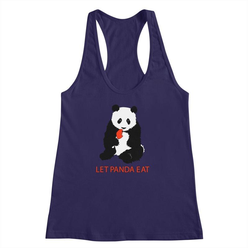 Let Panda Eat Women's Racerback Tank by Slugamo's Threads