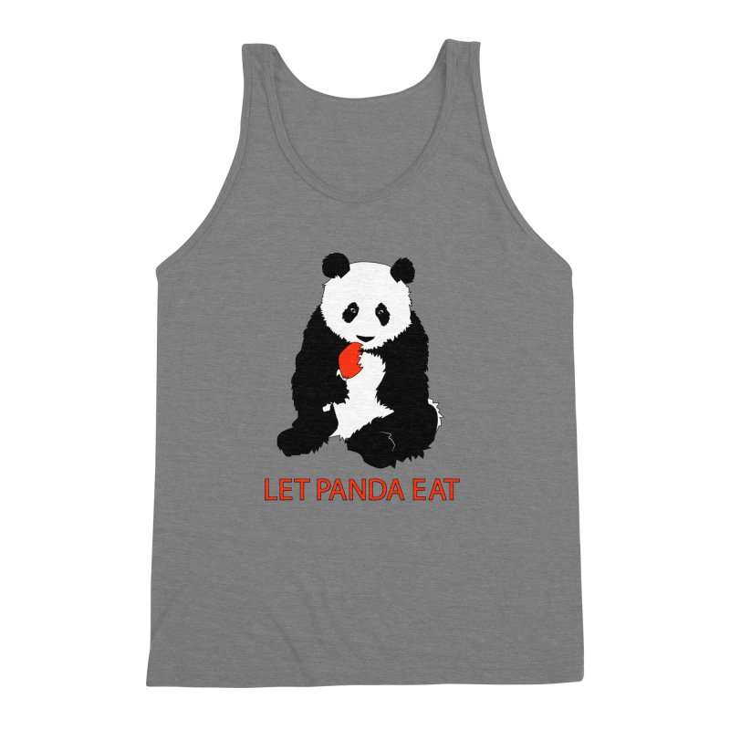 Let Panda Eat Men's Triblend Tank by Slugamo's Threads