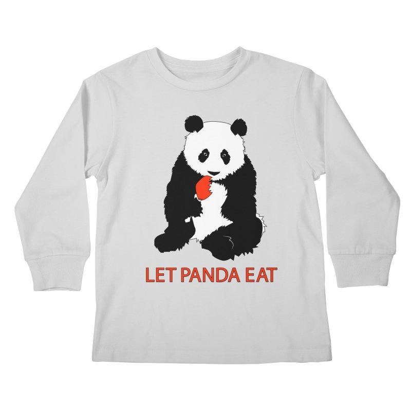 Let Panda Eat Kids Longsleeve T-Shirt by Slugamo's Threads
