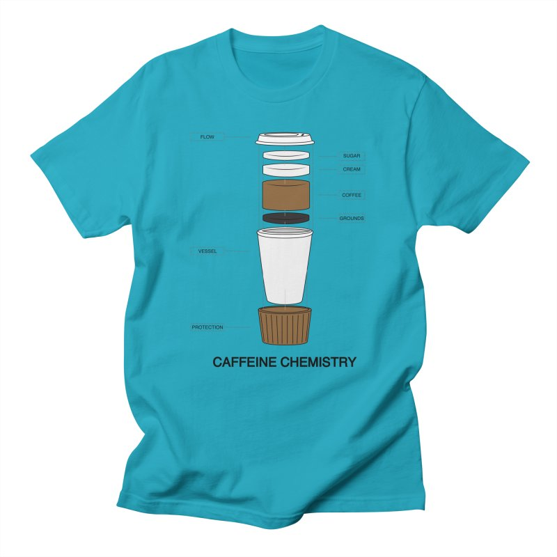 Caffeine Chemistry Men's T-Shirt by Slugamo's Threads