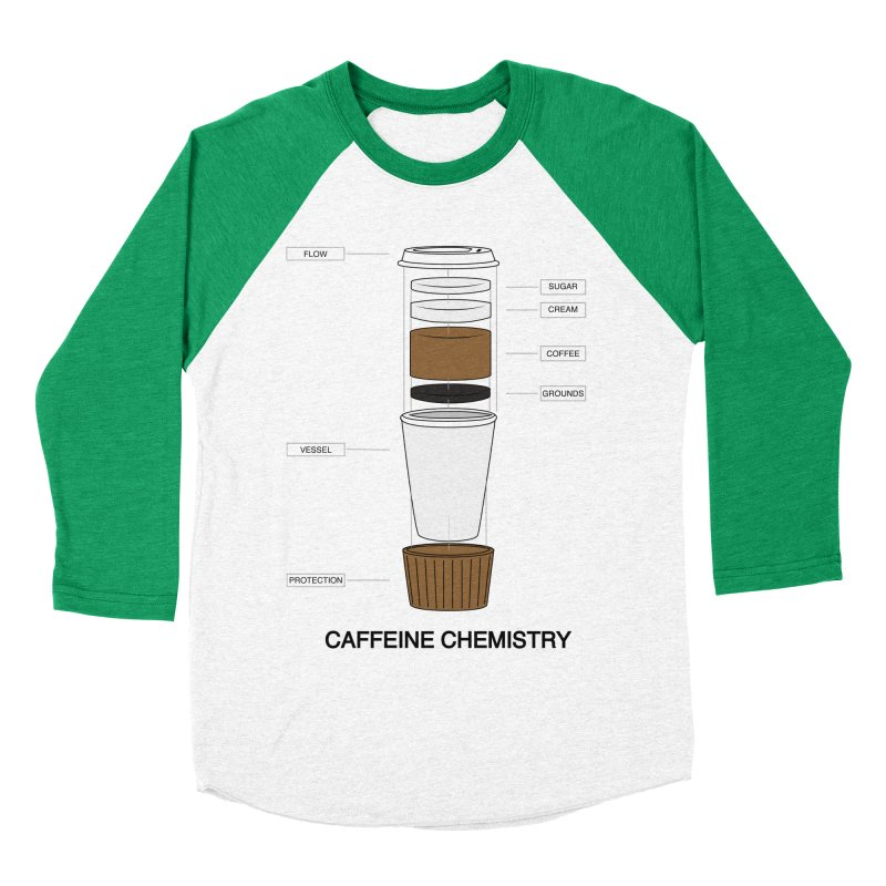 Caffeine Chemistry Women's Baseball Triblend T-Shirt by Slugamo's Threads