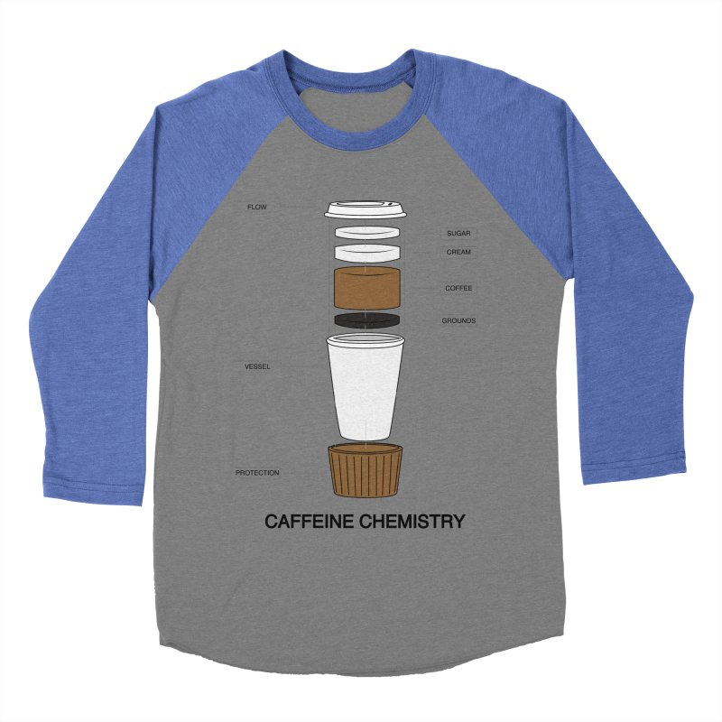 Caffeine Chemistry Women's Baseball Triblend T-Shirt by Slugamo's Threads