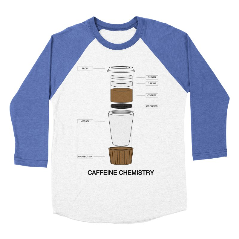 Caffeine Chemistry Men's Baseball Triblend T-Shirt by Slugamo's Threads