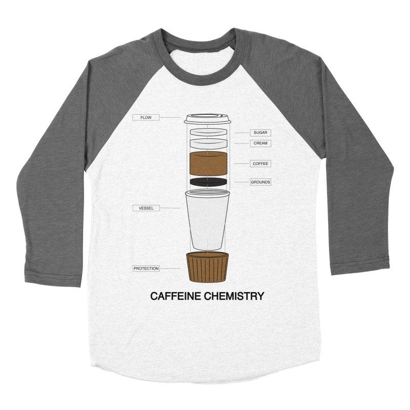 Caffeine Chemistry Men's Baseball Triblend T-Shirt by Slugamo's Threads