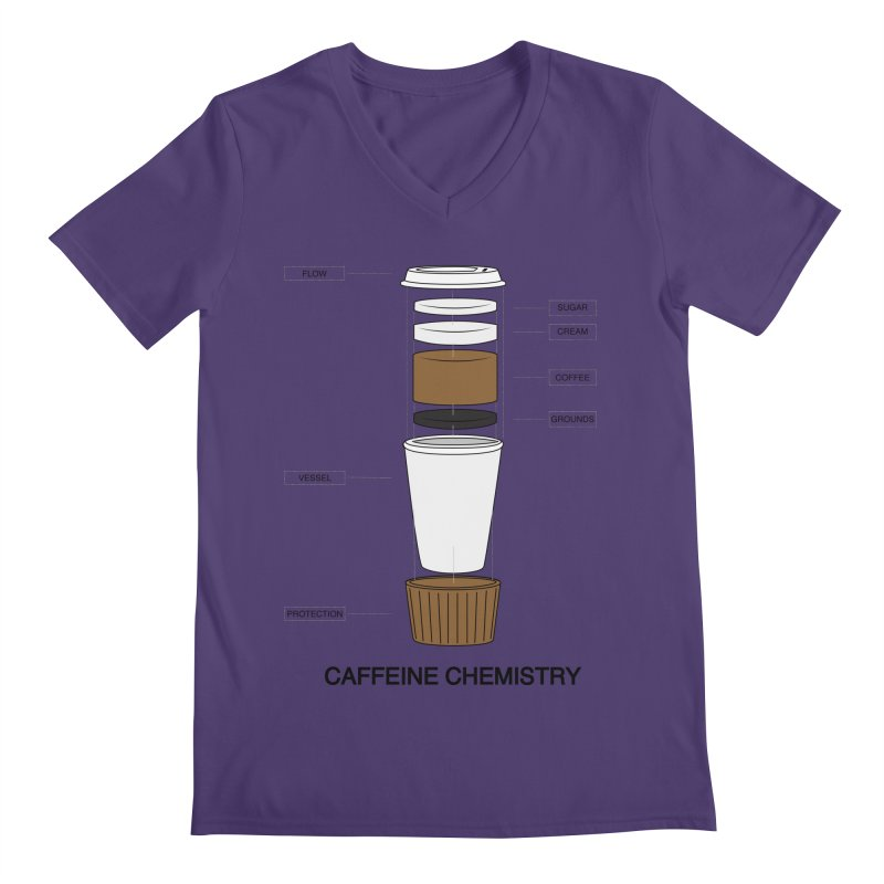Caffeine Chemistry Men's V-Neck by Slugamo's Threads