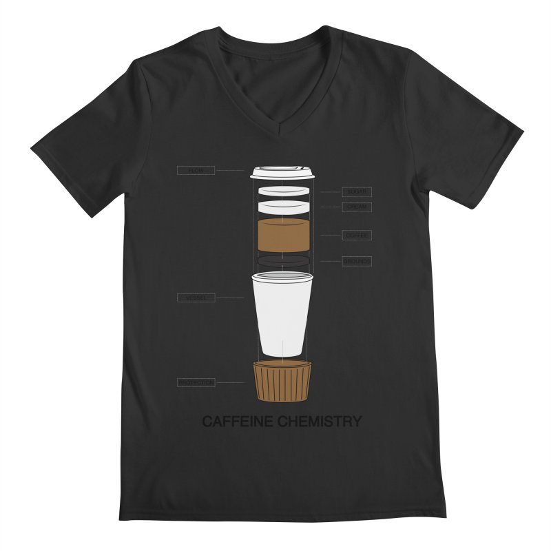 Caffeine Chemistry Men's V-Neck by Slugamo's Threads