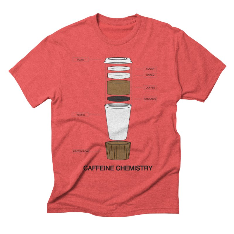 Caffeine Chemistry Men's Triblend T-shirt by Slugamo's Threads