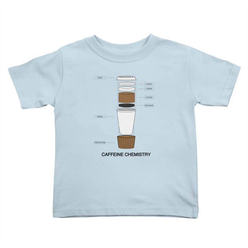 Caffeine Chemistry Kids Toddler T-Shirt by Slugamo's Threads
