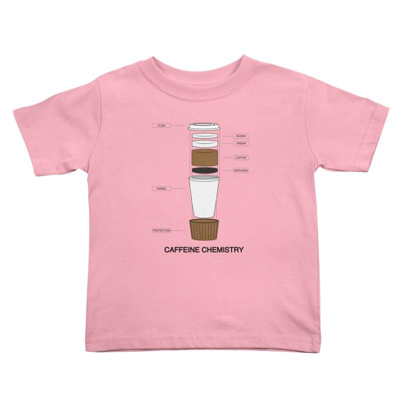Caffeine Chemistry Kids Toddler T-Shirt by Slugamo's Threads