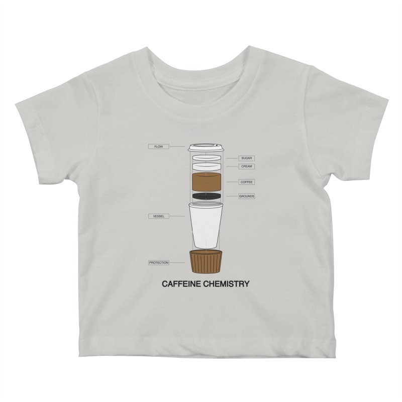 Caffeine Chemistry Kids Baby T-Shirt by Slugamo's Threads