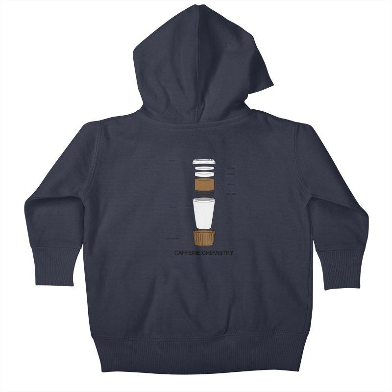Caffeine Chemistry Kids Baby Zip-Up Hoody by Slugamo's Threads