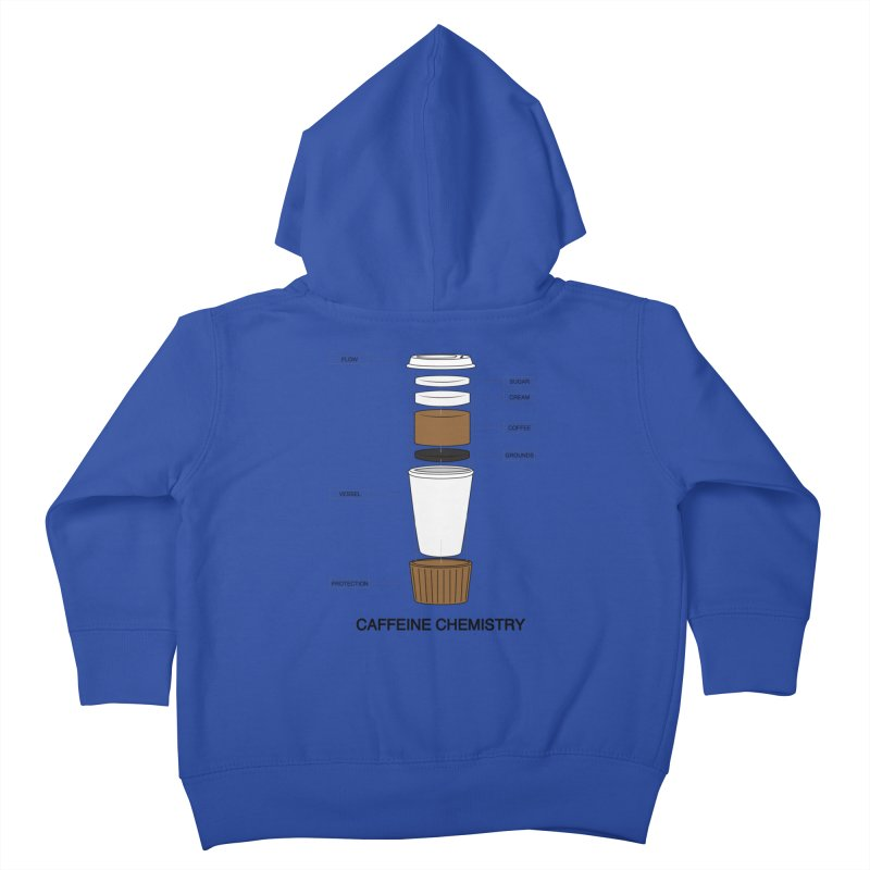 Caffeine Chemistry Kids Toddler Zip-Up Hoody by Slugamo's Threads