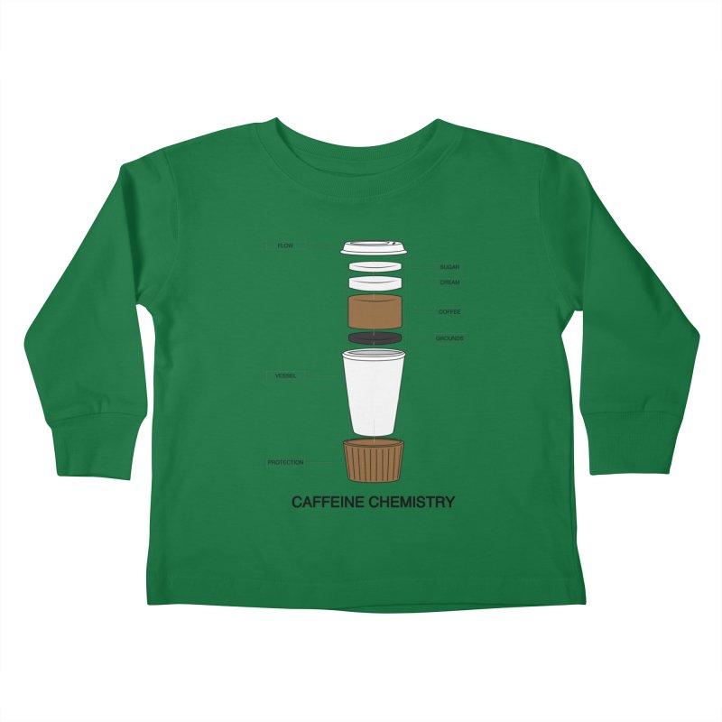 Caffeine Chemistry Kids Toddler Longsleeve T-Shirt by Slugamo's Threads