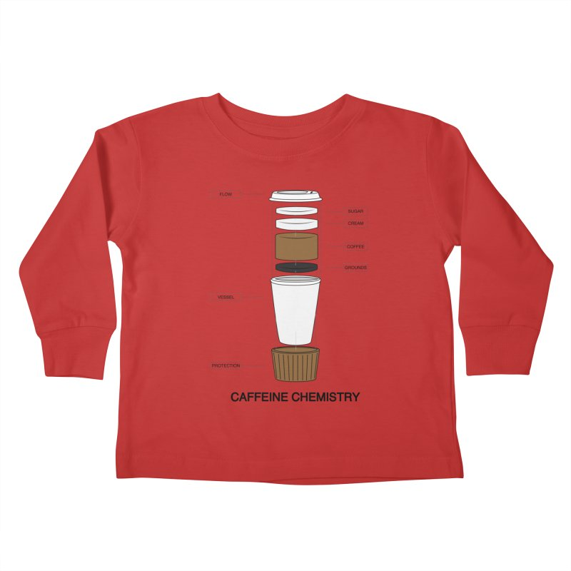 Caffeine Chemistry Kids Toddler Longsleeve T-Shirt by Slugamo's Threads