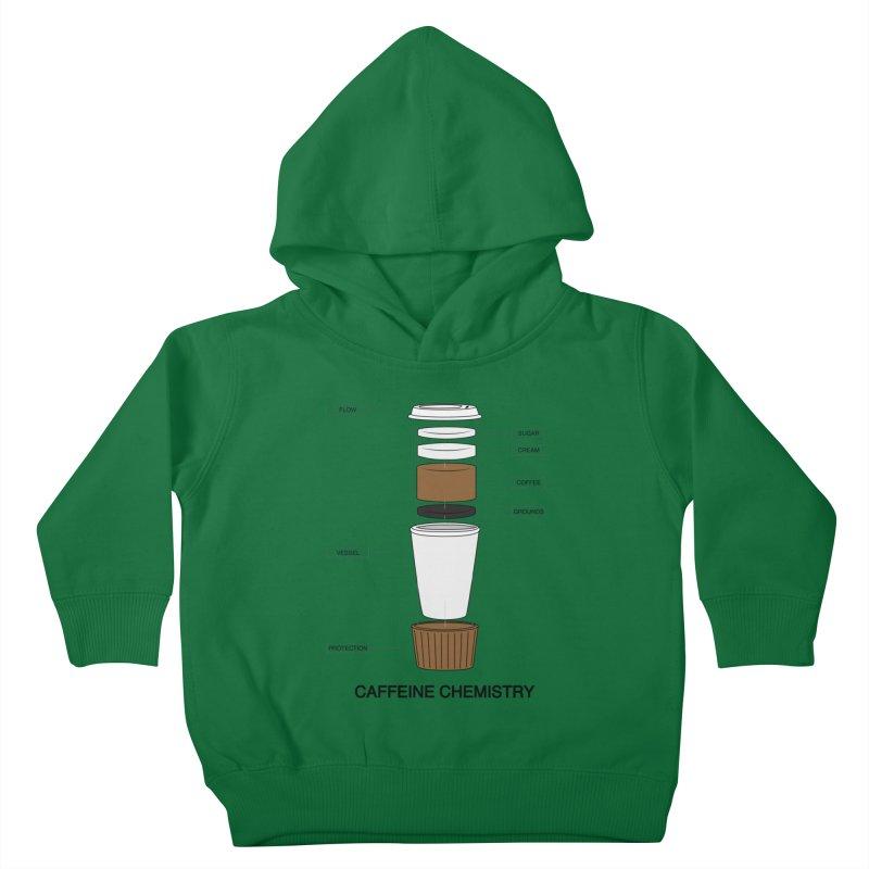 Caffeine Chemistry Kids Toddler Pullover Hoody by Slugamo's Threads