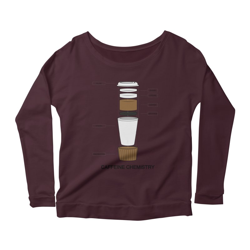 Caffeine Chemistry Women's Longsleeve Scoopneck  by Slugamo's Threads
