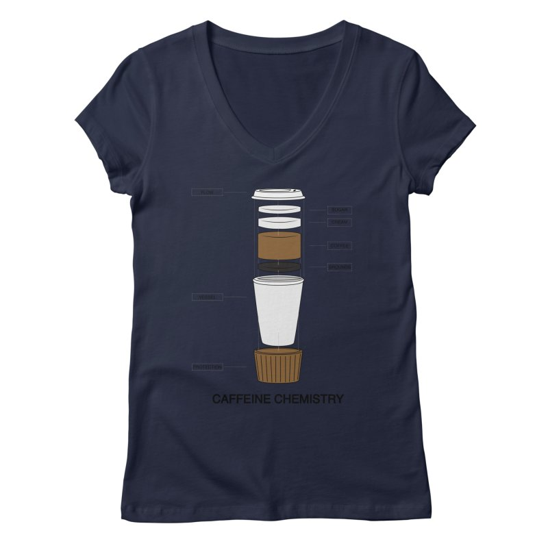 Caffeine Chemistry Women's V-Neck by Slugamo's Threads
