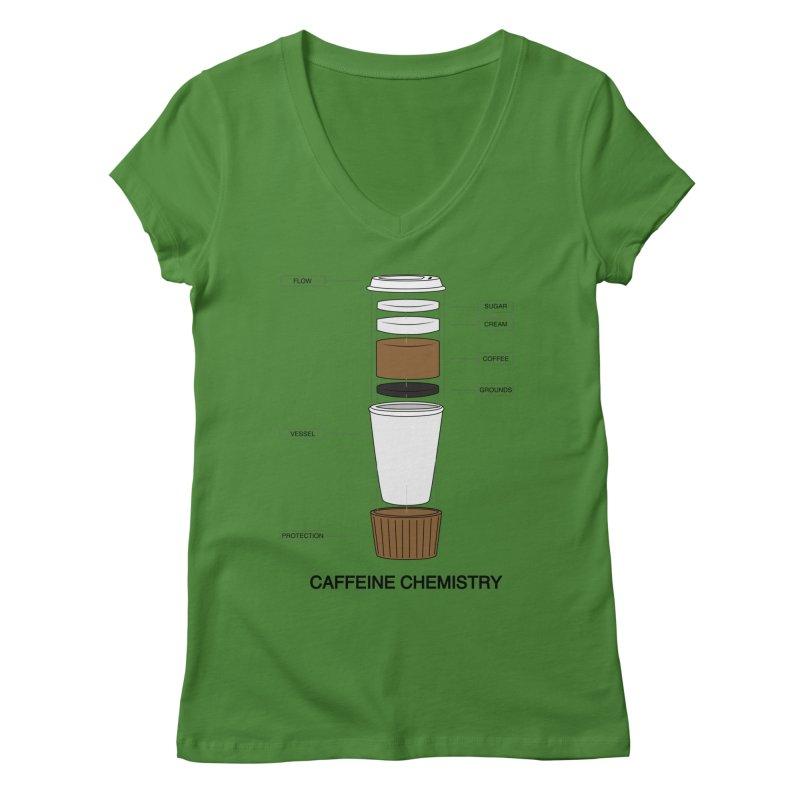 Caffeine Chemistry Women's V-Neck by Slugamo's Threads
